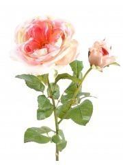 Rose de damas artificielle rosée