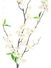 Tige de cerisier artificiel blanc