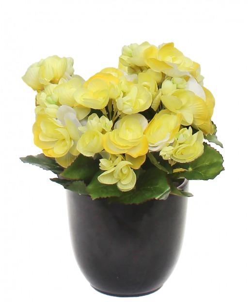 Branche de gardénia artificielle jaune pâle 65 cm