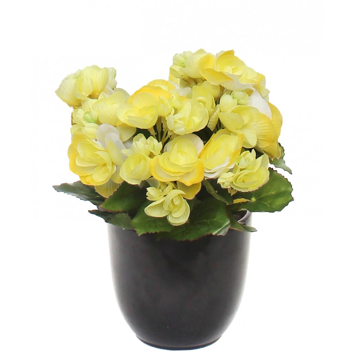 Branche de gardénia artificielle jaune pâle