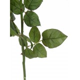 Rose de damas artificielle blanc crème