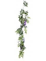 Guirlande de glycine violette