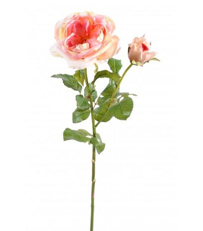 Rose de damas artificielle