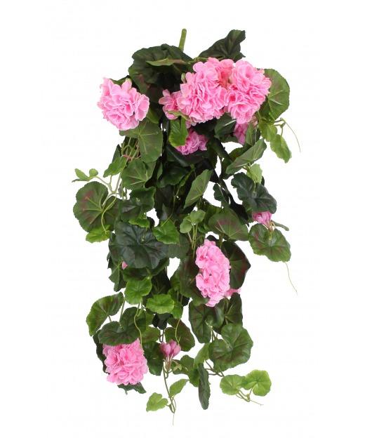 Chute de géranium artificielle rose