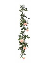 Guirlande fleurie de roses artificielles