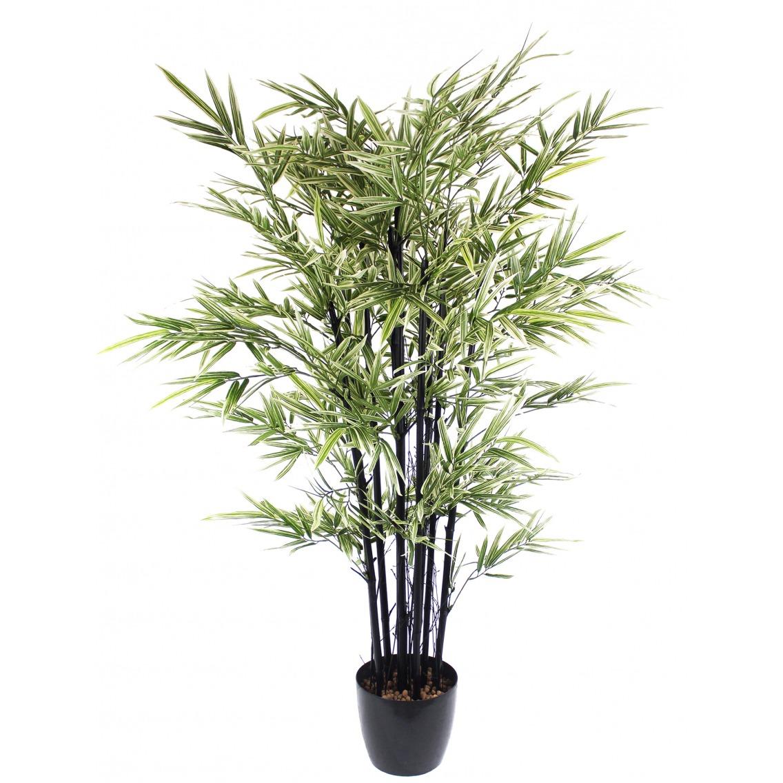 Bambou artificiel à cannes noires