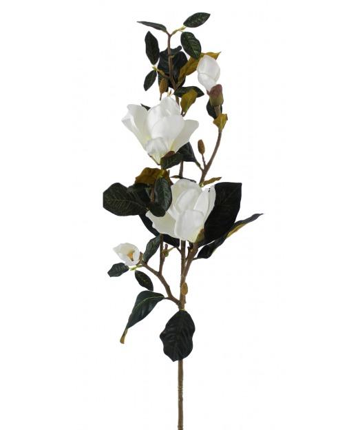 Rameau de magnolia artificiel blanc