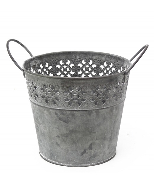 Pot zinc dentelle