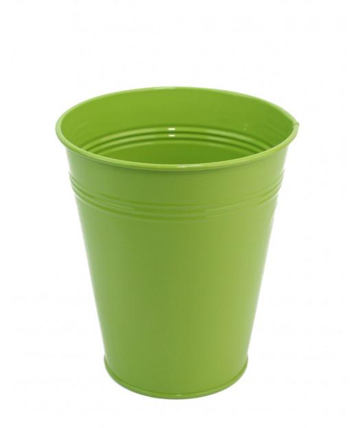 Pot en zinc vert