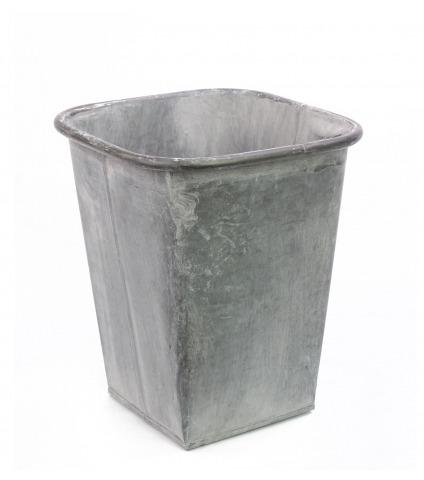 Cache-pot zinc vieilli