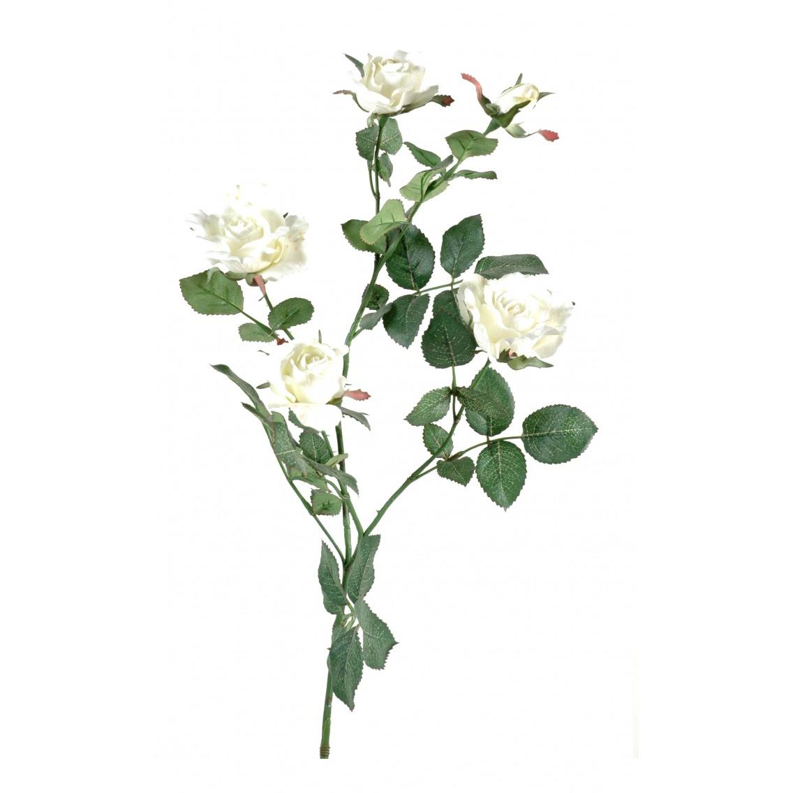 Rose artificielle blanche nature