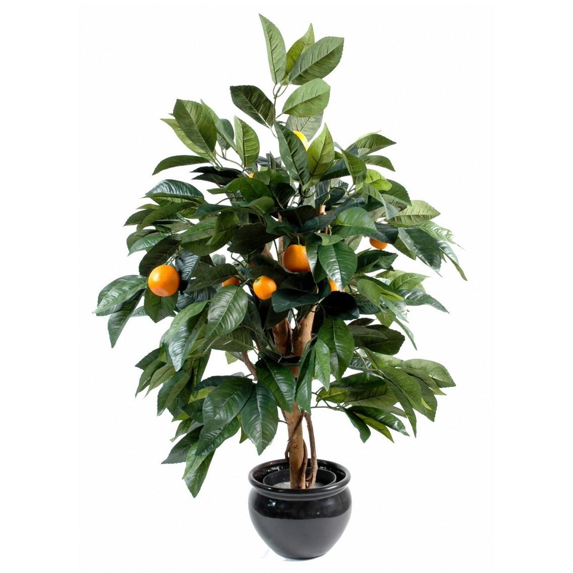 Oranger artificiel arbuste 80 cm arbres fruitiers for Arbuste plastique