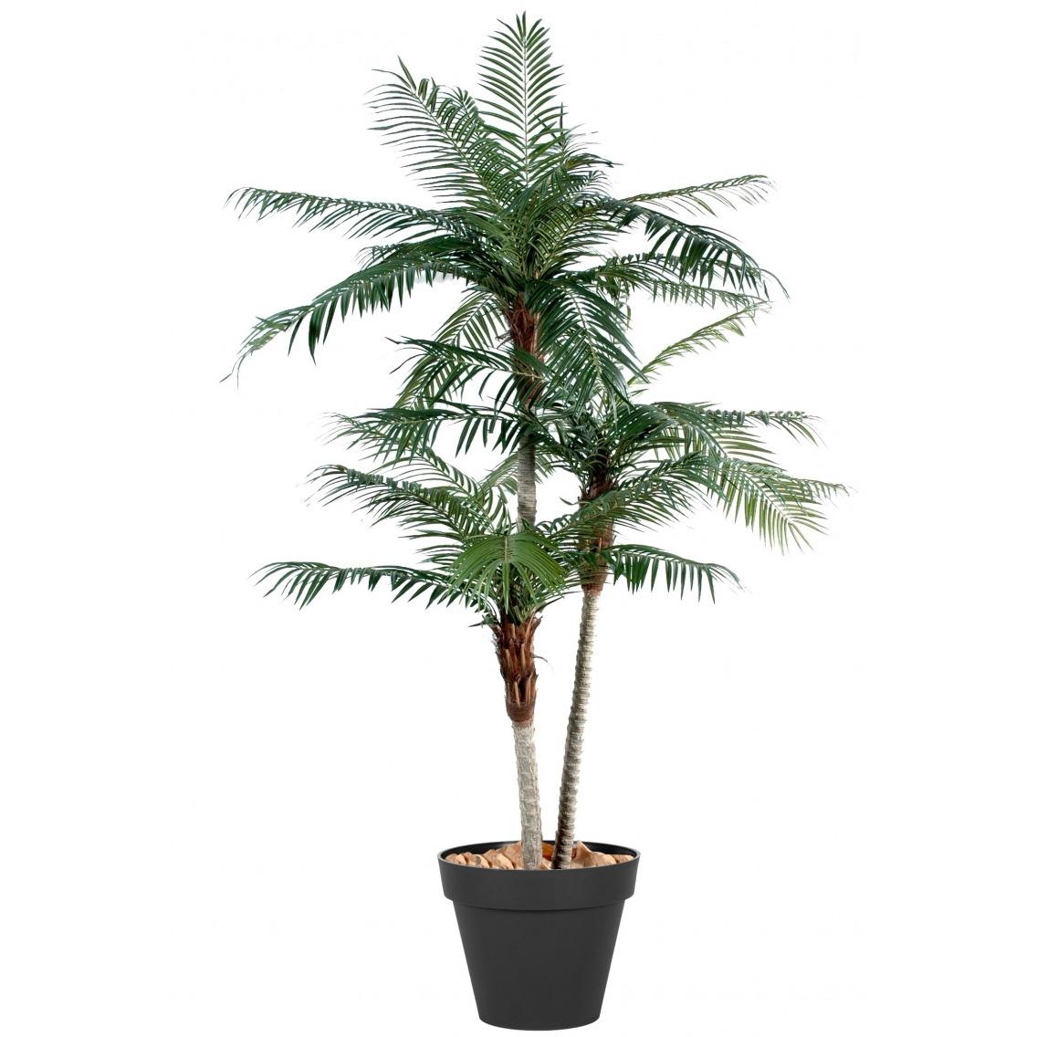 Palmier phoenix artificiel trois troncs