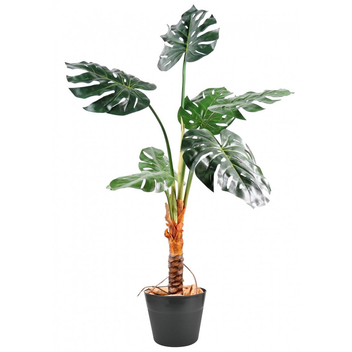 Philodendron artificiel sur tige