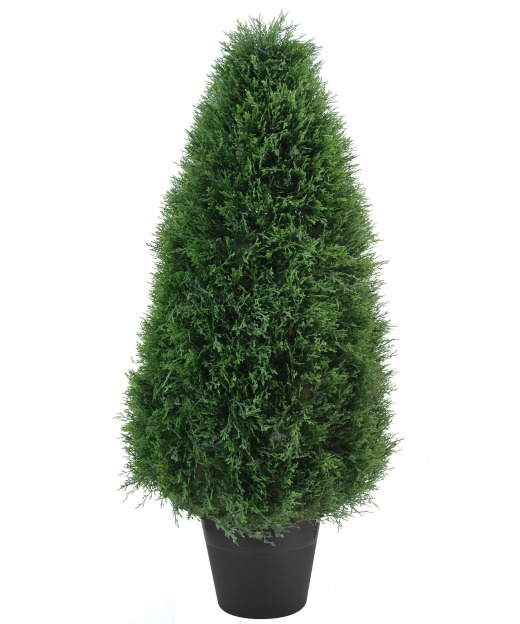 Cypres artificiel c ne topiaire 91 cm cypr s artificiels for Arbre artificiel exterieur