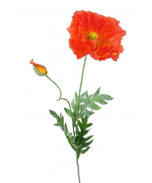 Coquelicot artificiel rouge 70 cm