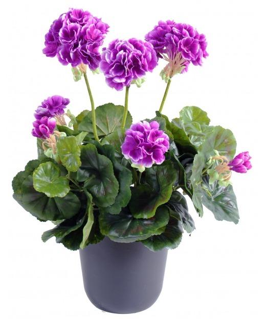 Géranium artificiel violet 40 cm