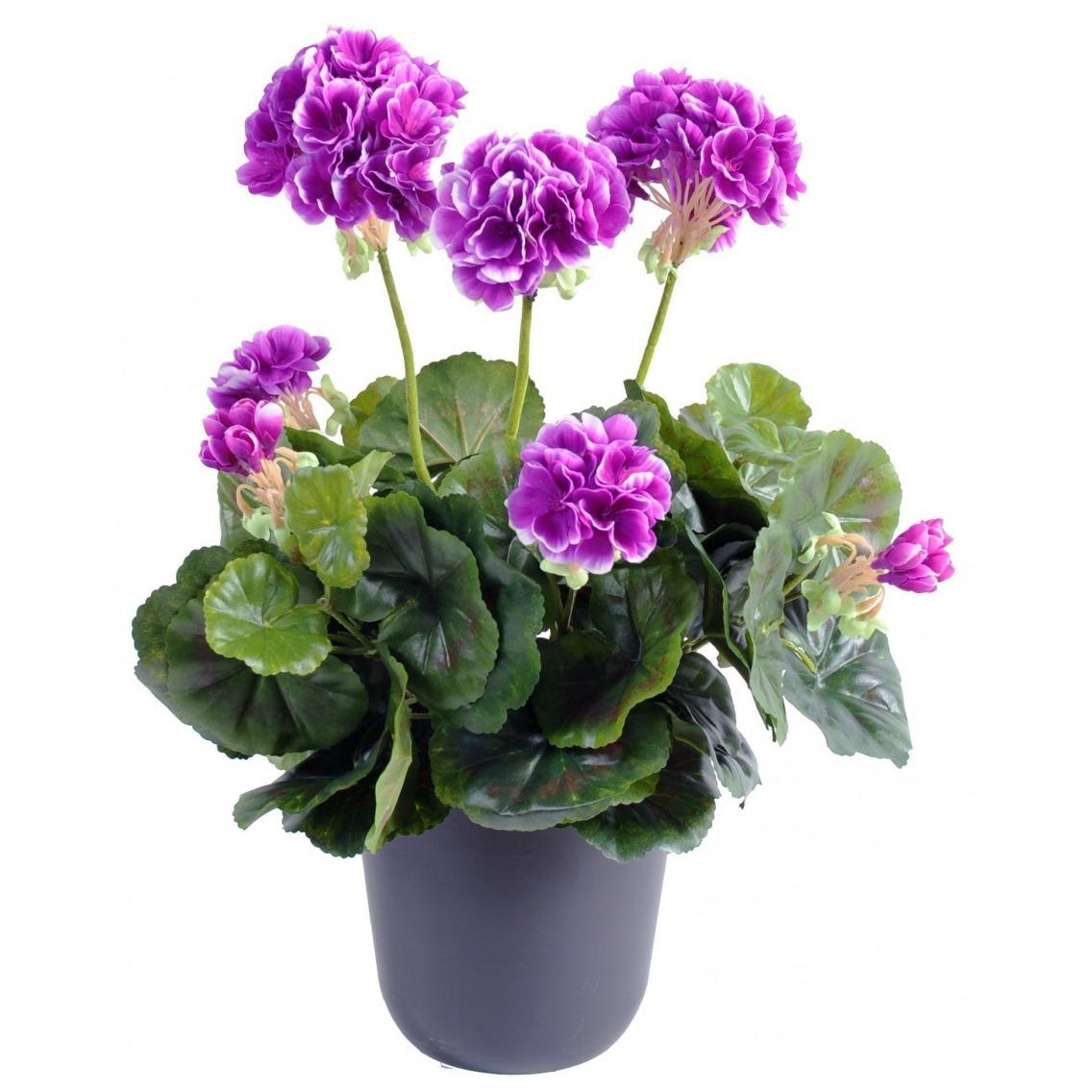 g ranium artificiel violet 40 cm cyclamens et g raniums artiplantes. Black Bedroom Furniture Sets. Home Design Ideas