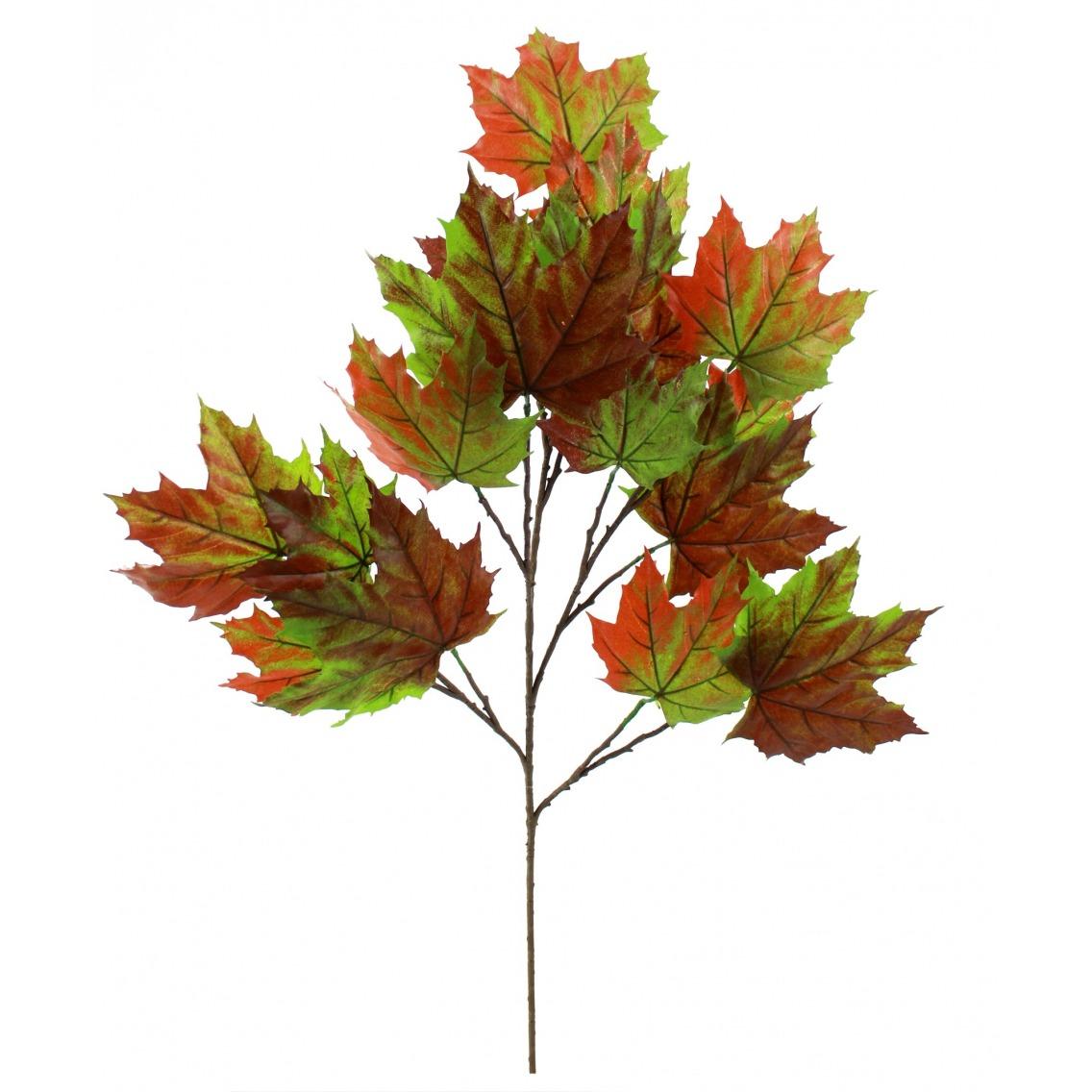 branche de platane (vert et orange)