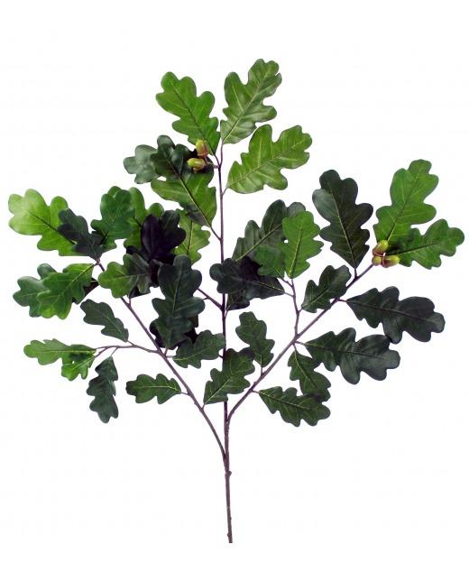 Branche de chêne feuillue 60 cm