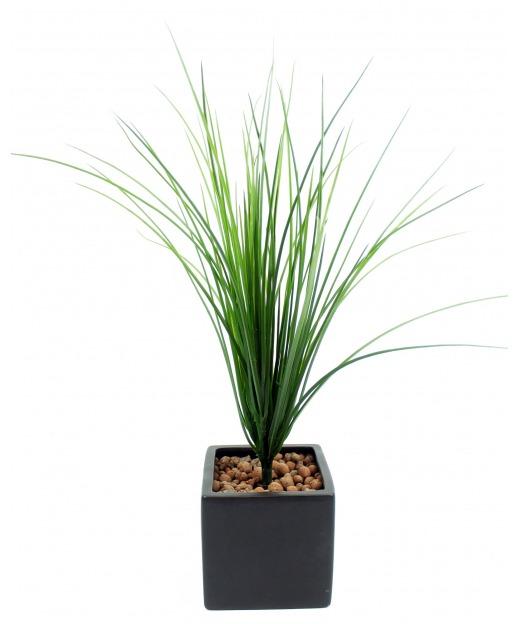 Herbe fine artificielle 55 cm