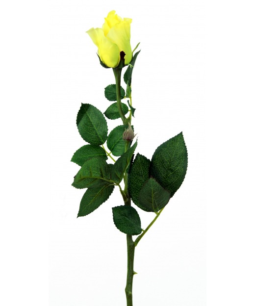 Rose artificielle jaune 68 cm