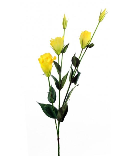 Lisianthus artificiel jaune 65 cm