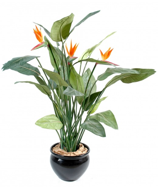 Grand strelitzia artificiel 150 cm