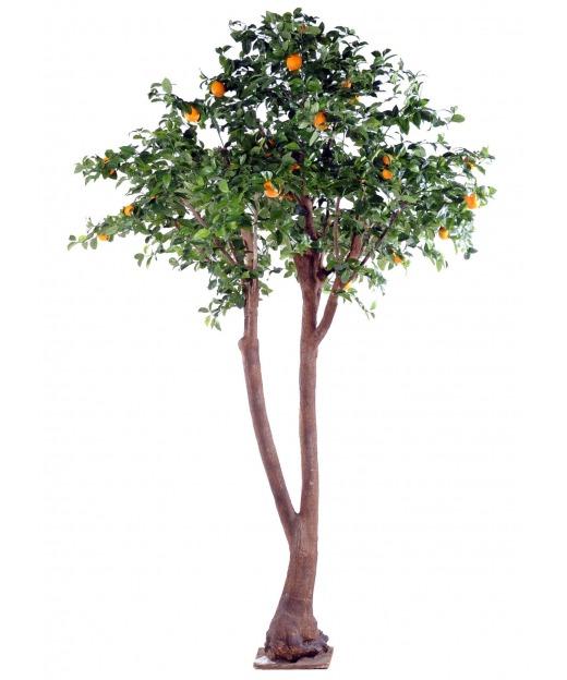 Oranger artificiel tronc double 340 cm