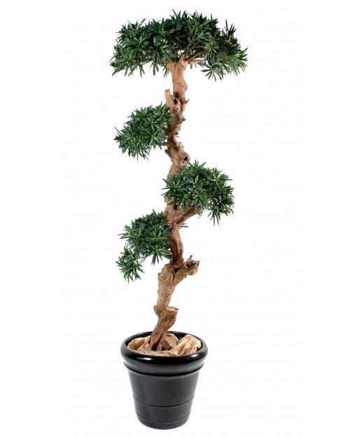 Podocarpus artificiel tronc noueux 110 cm