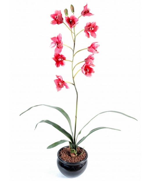 Cymbidium artificiel rouge 80 cm