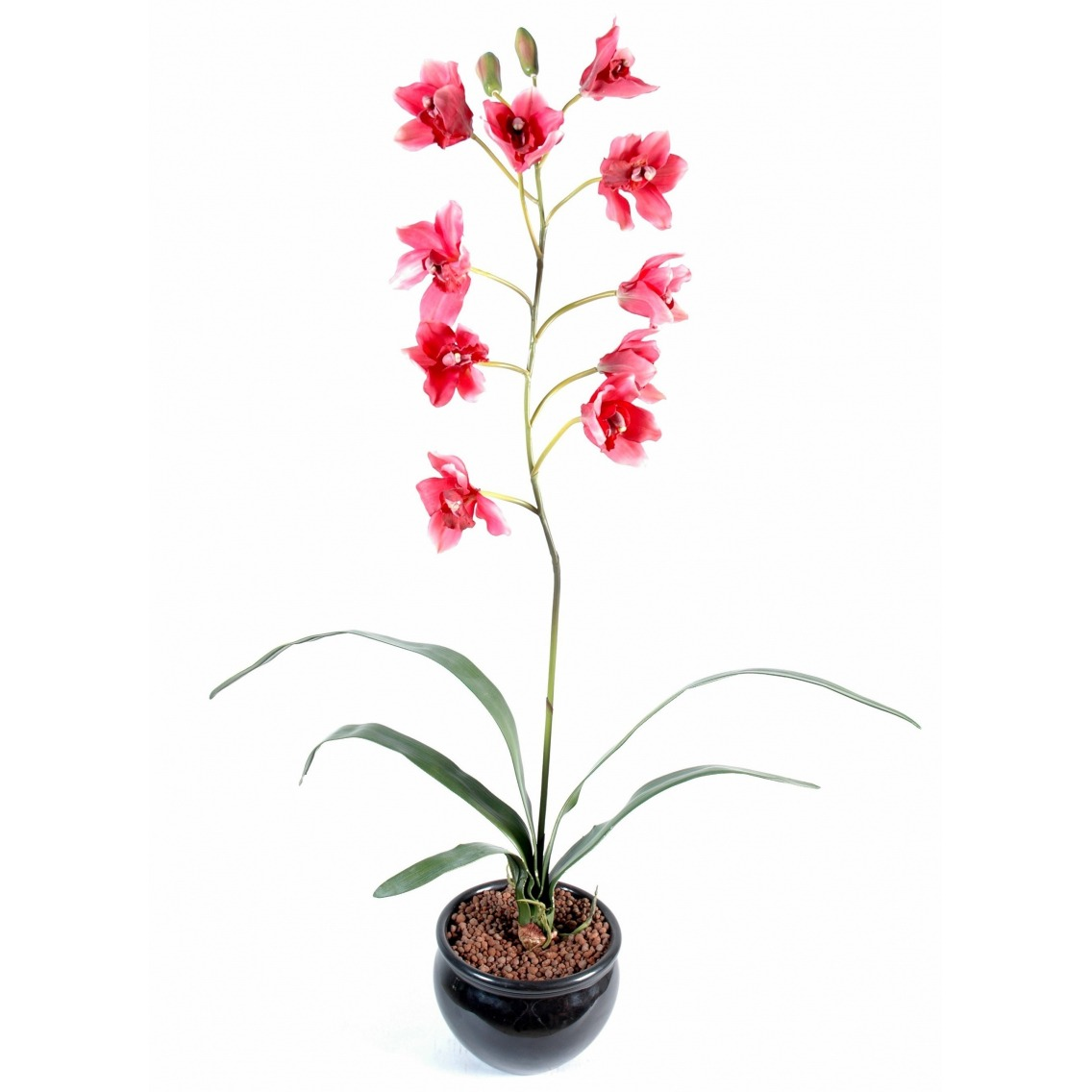 Cymbidium artificiel rouge