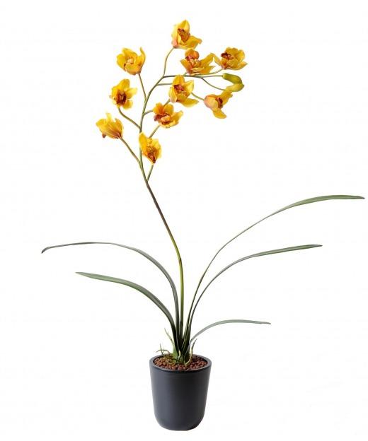 Cymbidium artificiel fleuri 80 cm