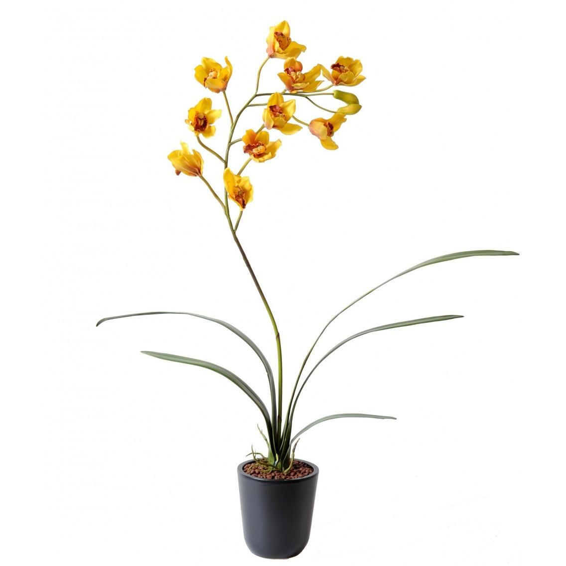 Cymbidium artificiel fleuri