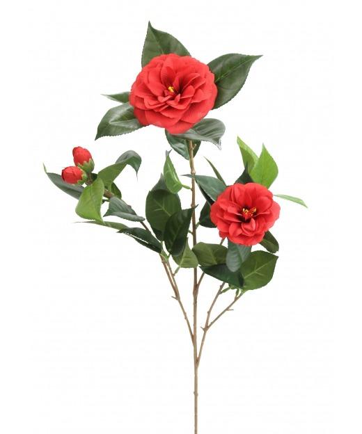 Branche de camélia fleurie 70 cm