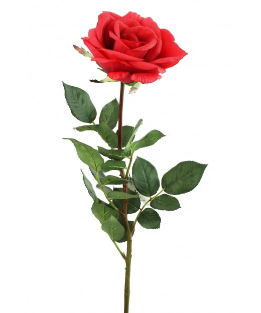 Rose artificielle baccara 80 cm