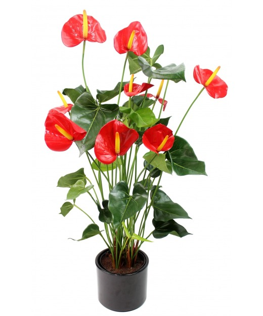 Grand anthurium artificiel 75 cm