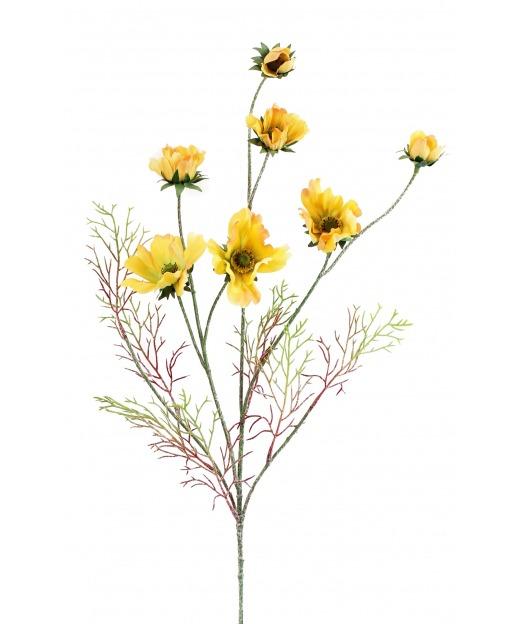 Cosmos jaune artificiel 80 cm
