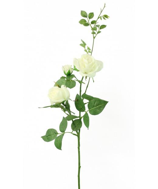 Rose artificielle blanche margaux 65 cm