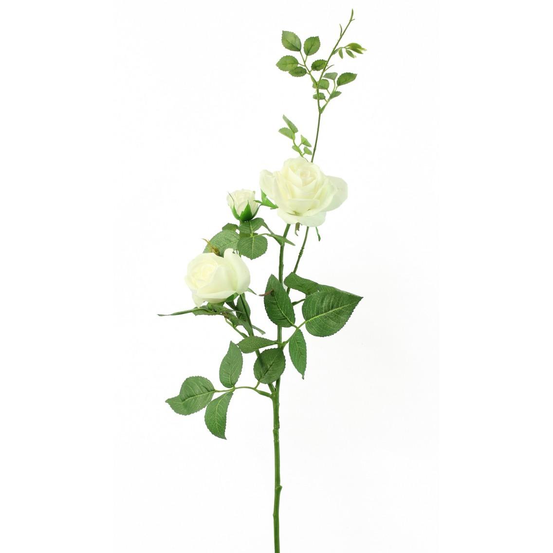 Rose artificielle blanche margaux