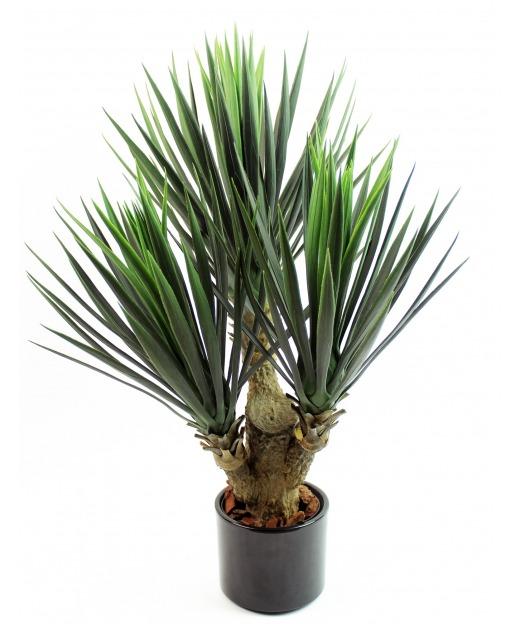 Yucca artificiel à trois têtes 70 cm