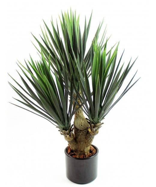 plante yucca artificiel trois t tes 75 cm plantes grasses artificielles artiplantes. Black Bedroom Furniture Sets. Home Design Ideas