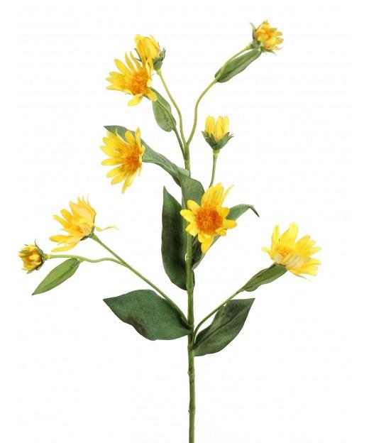 Aster artificiel jaune 45 cm