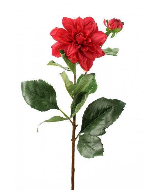 Dahlia artificiel rubis 70 cm