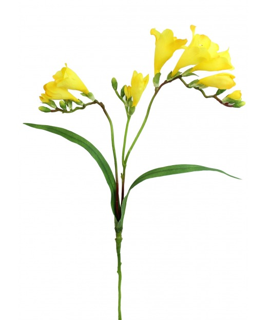 Freesia jaune artificiel 60 cm