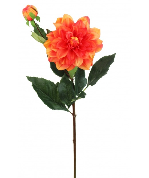 Dahlia artificiel orange 70 cm