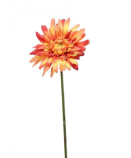 Fleur de gerbera rouge orange 65 cm