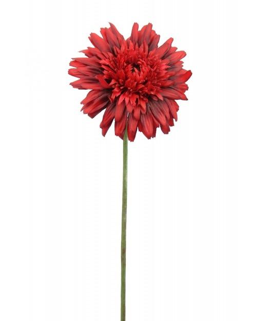 Fleur de gerbera rouge 65 cm