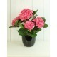 Hortensia artificiel rouge