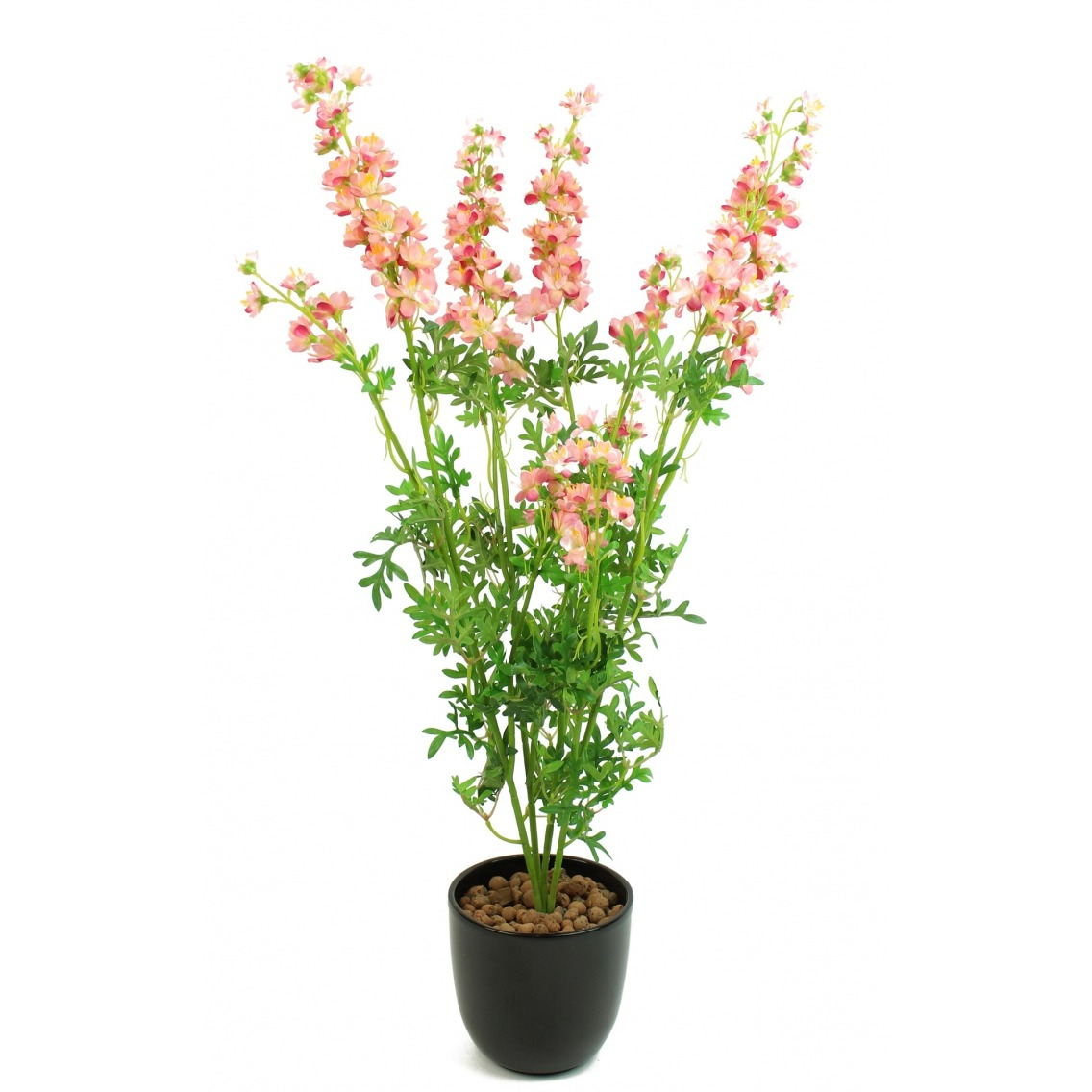 Delphinium artificiel rose sur piquet
